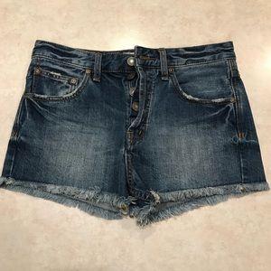 Free People l Light Wash Cutoff Jean Shorts 27
